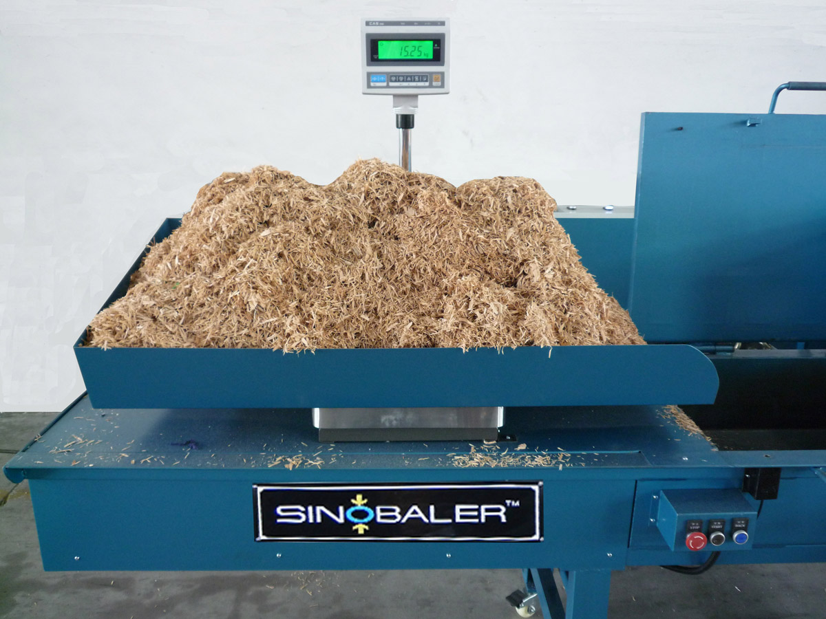 Scale Weighing Horizontal Bagging Baler