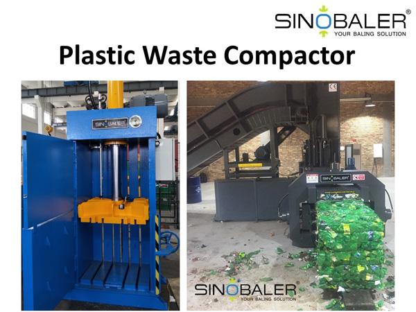plastic waste compactor plastic waste baler machine sinobaler