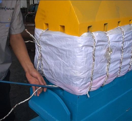Presse à balles de double box pour textile