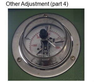 Adjust pressure for electro-connecting pressure gauge