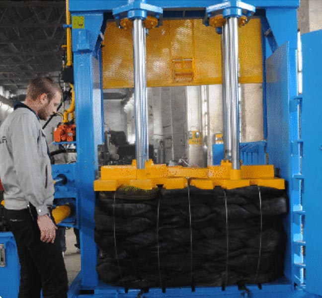 Optimized Heavy Duty Baler for High Rebound Material (eg. Tyre Balers )