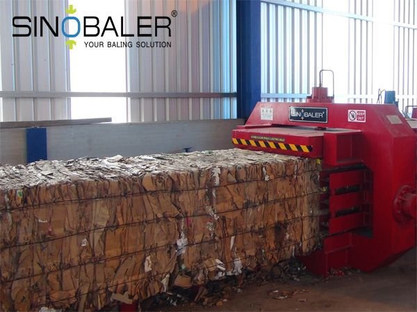 Cardboard Baler Bale Size and Bale Density