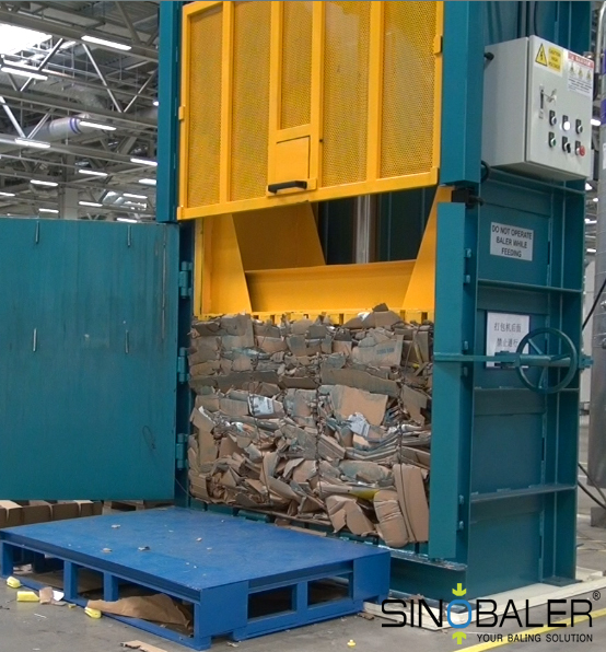cardboard baler machine