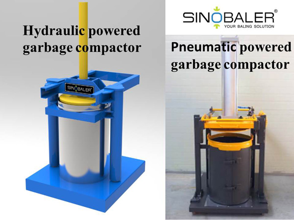 Hydraulic Powered Garbage Compactor and Pneumatic Powered Garbage Compactor