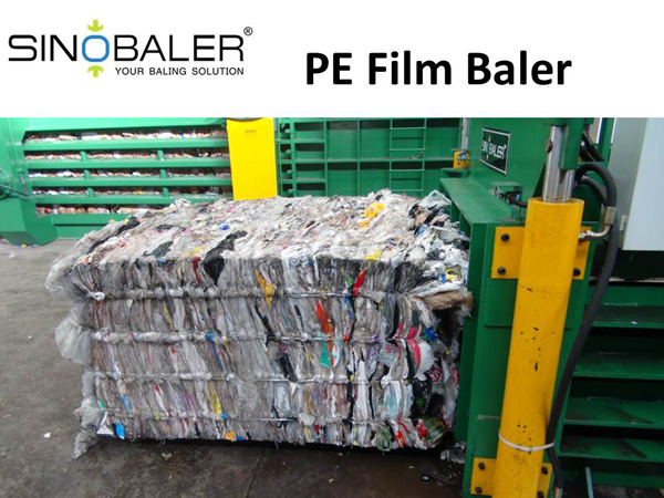 PE Film Baler in Polyethylene Film Recycling