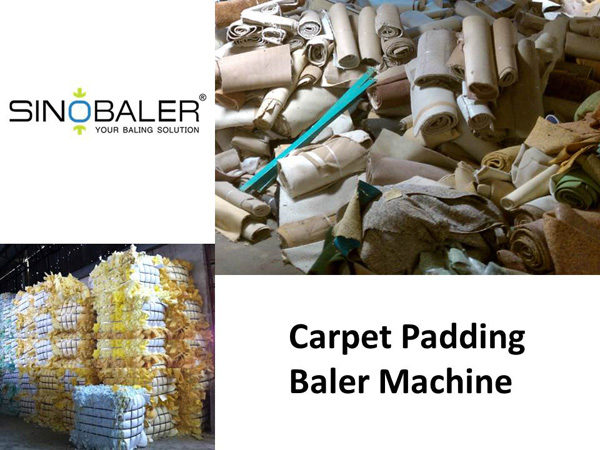 Carpet Padding Baler Machine