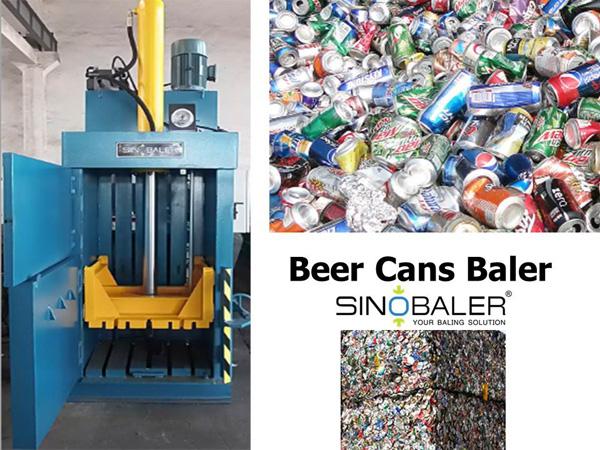 Aluminum Beer Cans Baler Machine / Aluminum Drink Cans Baler