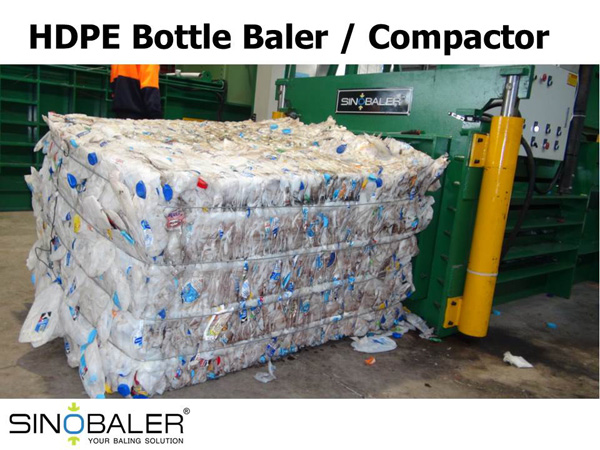 HDPE Bottle Compactor / HDPE Bottle Baler Machine