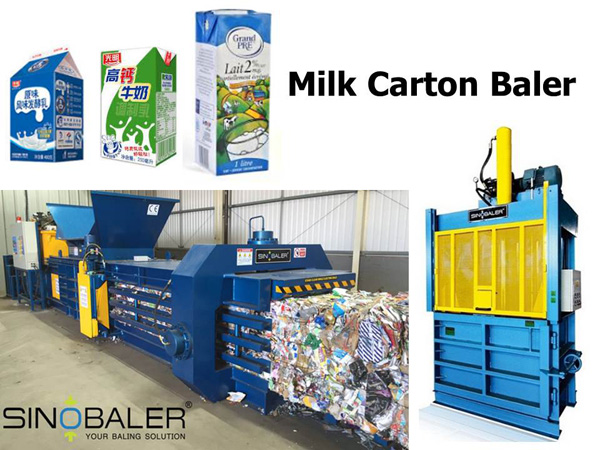 Milk Carton Baler Machine / Milk Carton Baling Machine