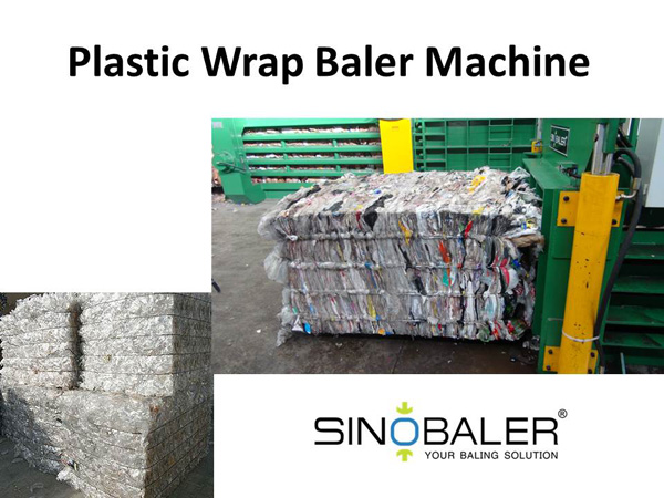 Plastic Wrap Baler Machine / Shrink Wrap Baling Machine