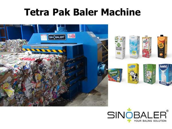 Tetra Pak Cartons Baler Machine