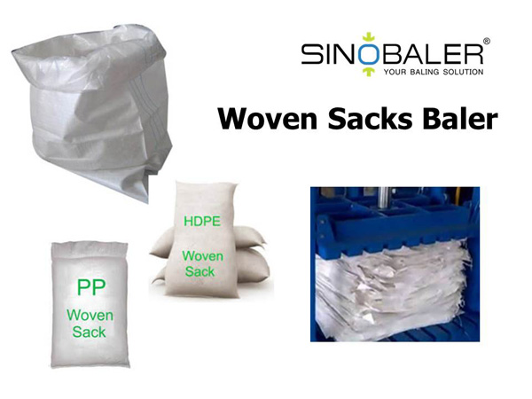 Woven Sacks Baler Machine / Sacks Baling Machine
