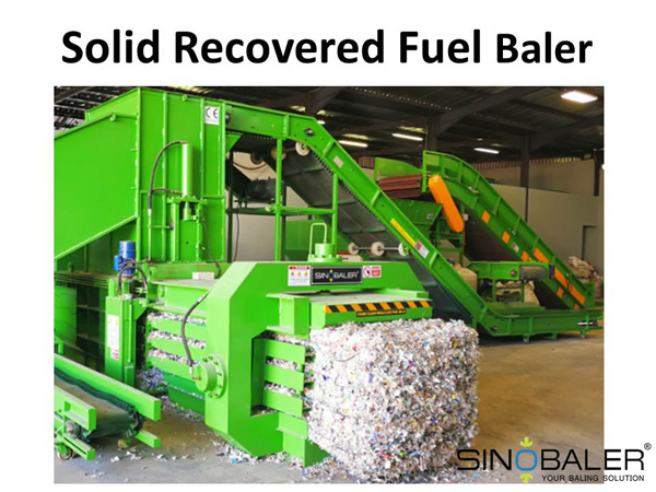 Solid Recovered Fuel Baler Machine / SRF Baler