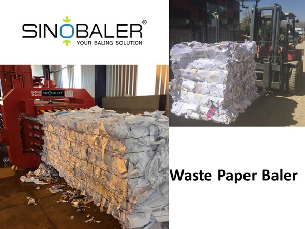 Waste Paper Baler Machine