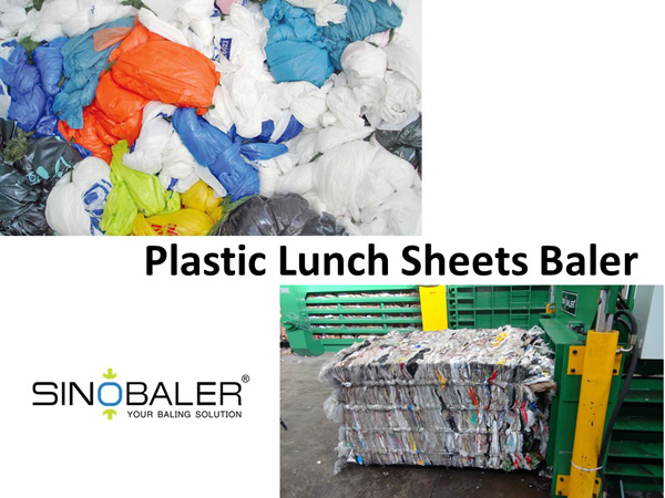 Plastic Lunch Sheets Baler Machine