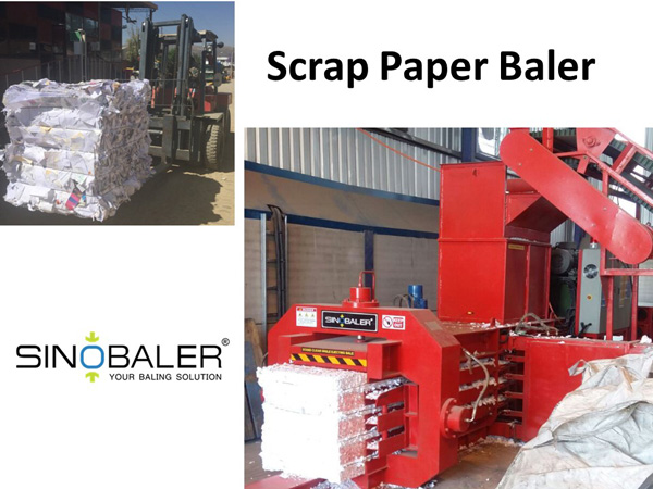 Scrap Paper Baler Machine