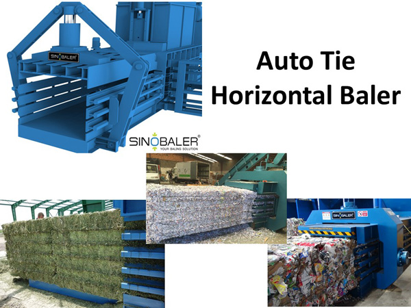 Auto Tie Horizontal Baler Machine