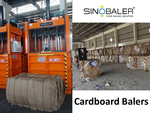 Cardboard Balers Machine in Cardboard Recycling