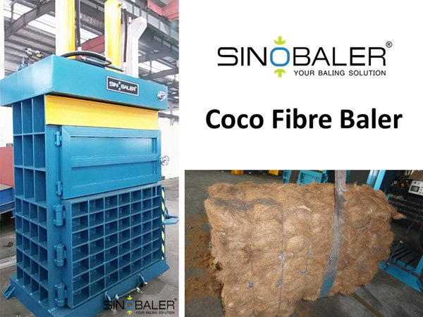 Coco Fibre Baler Machine / Coco Fiber Baling Press Machine