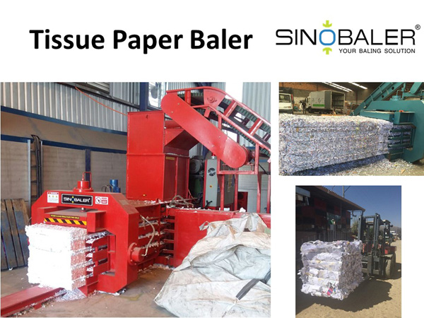 Waste Tissue Paper Baler Machine