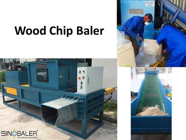 Wood Chip Baler Machine