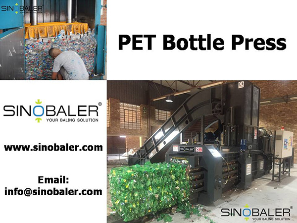 PET Bottle Press Machine / PET Bottle Baling Press