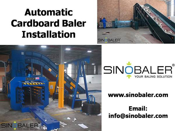 Automatic Cardboard Baler Installation