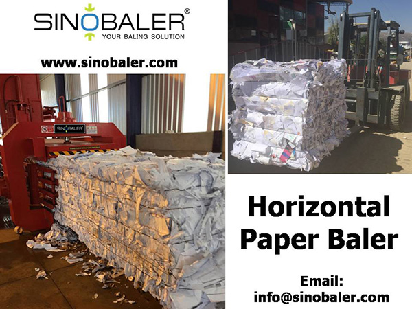 Horizontal Paper Baler Machine