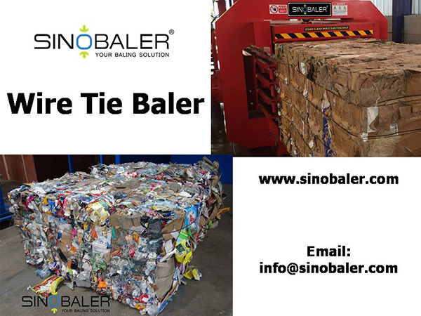 Wire Tie Baler / Steel Wire Baler Machine / Plastic Wire Baling Machine