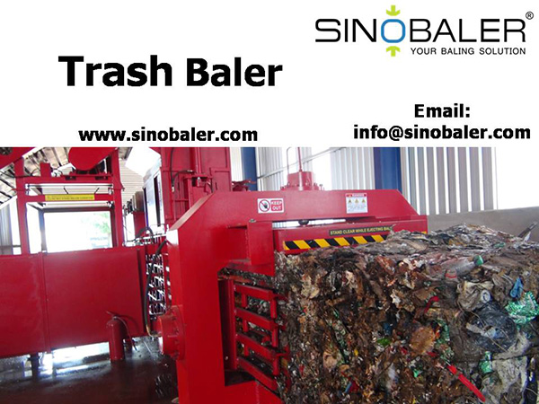 Trash Baler Machine