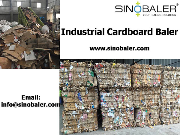 Industrial Cardboard Baler – Recycle huge cardboard waste created from 11/11 aka Singles' Day Sales