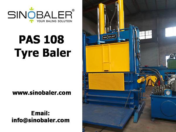 PAS 108 Tyre Baler Machine