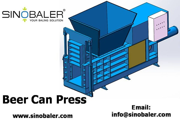 Beer Can Press Machine, Industrial Beer Can Press, Beer Can Baler