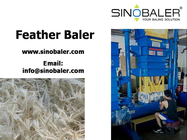 Feather Baler Machine