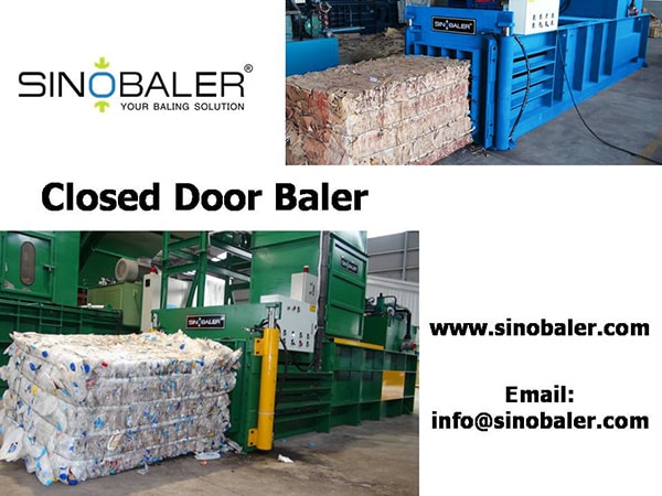 Closed Door Baler Machine