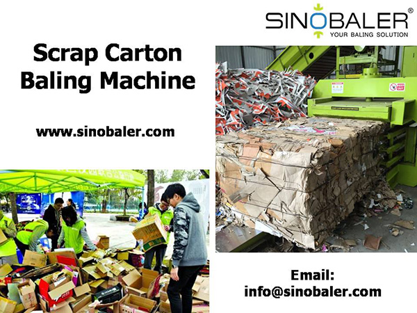Scrap Carton Baling Machine In Carton Recycling