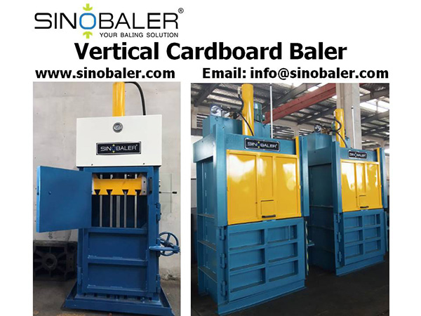 Vertical Cardboard Baler Machine