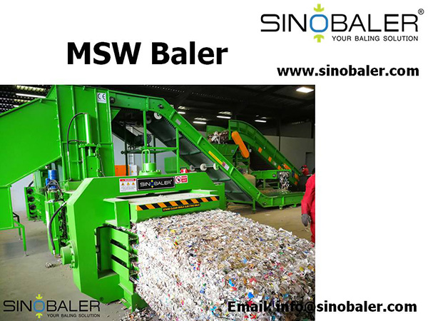 MSW Baler Machine