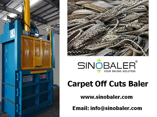 Carpet Off Cuts Baler Machine