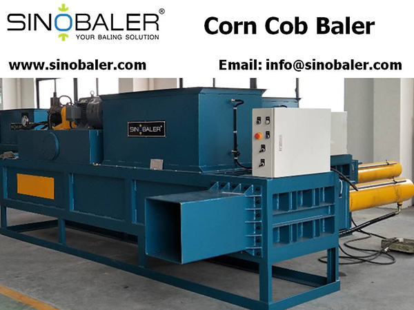 Corn Cob Baler Machine