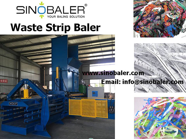 Waste Strip Baler Machine