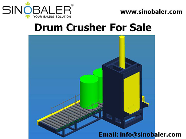 Drum Crusher For Sale, 55 Gallon Steel Drum Crusher - SINOBALER