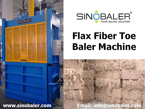 Flax Fiber Toe Baler Machine