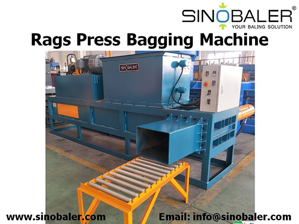 Rags Press Bagging Machine, Rags Wiper Baling Press Machine