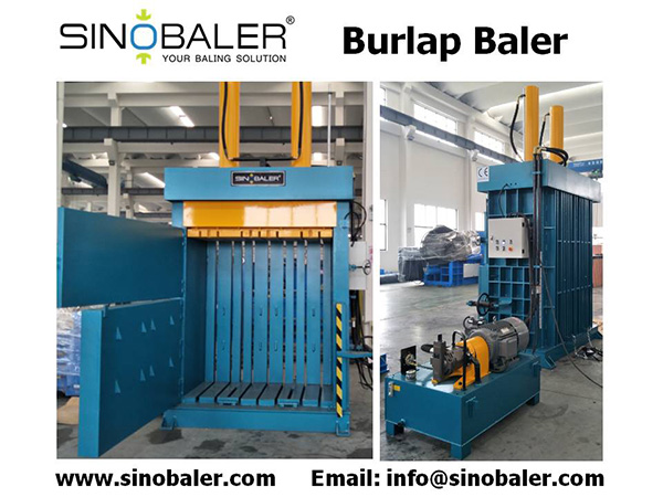 Burlap Baler Machine