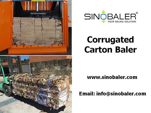 Corrugated Carton Baler Machine