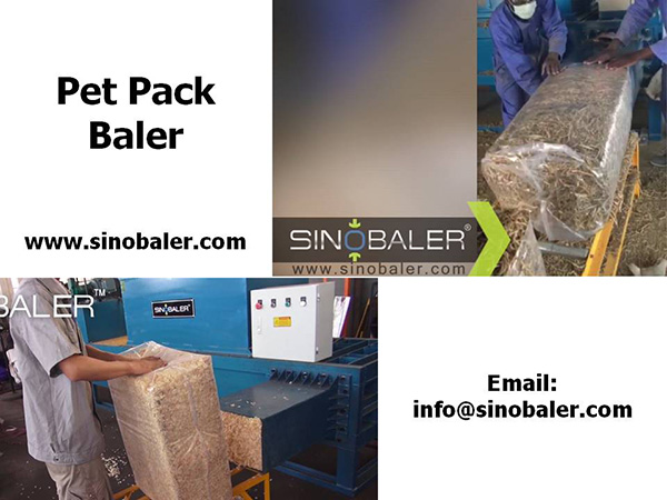 Pet Pack Baler Machine