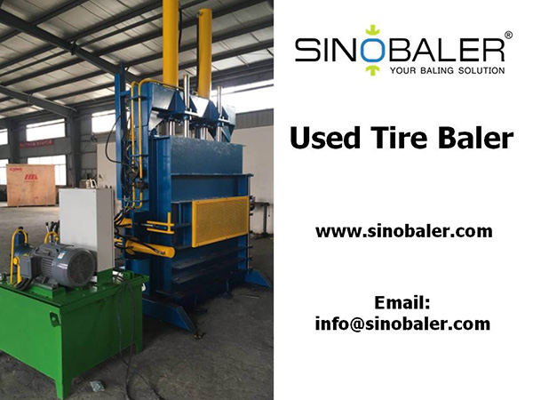 Used Tire Baler Machine