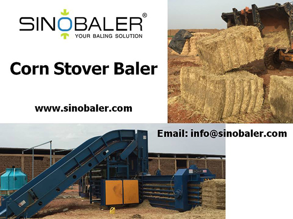 Corn Stover Baler Machine