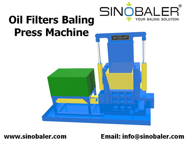 Oil Filters Baling Press Machine